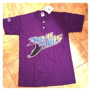 NWT Russell athletic youth L Tampa devil rays top